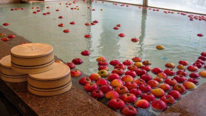 11月26日 りんご風呂